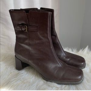 London Fog brown leather boots size 9.5M